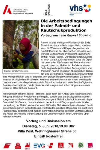 Die Arbeitsbedingungen in der Palmöl- und Kautschukproduktion