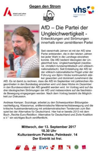 Gegen den Strom: AfD – Die Partei der Ungleichwertigkeit – Entwicklungen und Strömungen innerhalb einer zerstrittenen Partei
