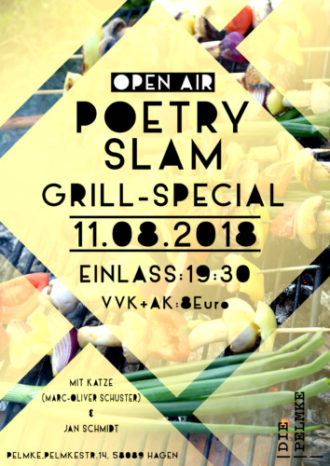 Open Air Poetry Slam inkl. Grillwurst