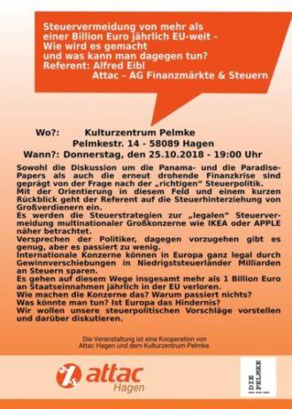 Vortrag: Steuervermeidung in der EU