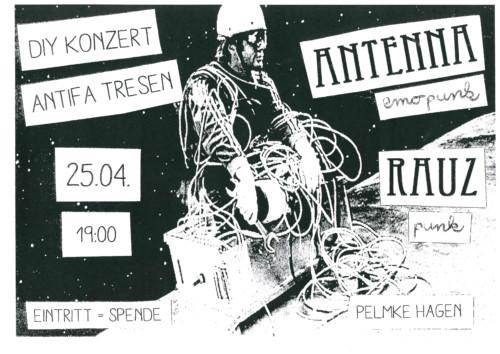 DIY – Konzert & Antifa Tresen mit Antenna und Rauz