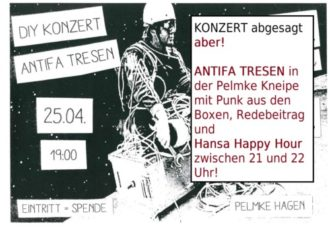 Antifa Tresen // DIY Konzert +++Fällt aus+++