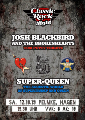 Classic Rock Night: Josh Blackbird & The Brokenhearts + Super-Queen