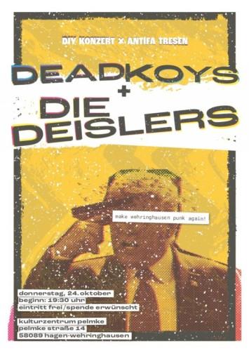 DIY Konzert & Antifa Tresen mit Die Deislers & Dead Koys live